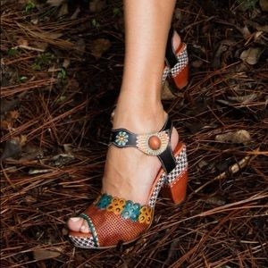 Spring Step L'Artiste Jive Hand Painted Sandals